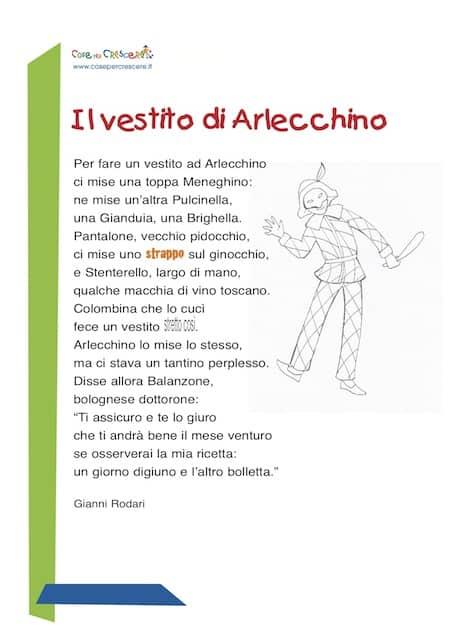 Poesia di Carnevale per bambini