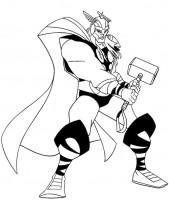 Thor da colorare