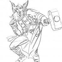 Thor Super Eroe Da Colorare Cose Per Crescere