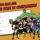 Invito alla festa di Super eroi