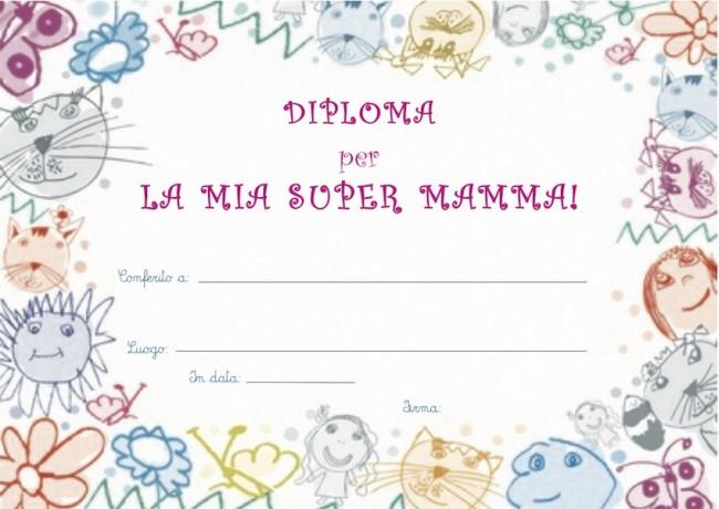 Diploma per la mamma