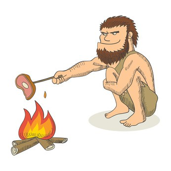 Uomo preistorico spiegato ai bambini