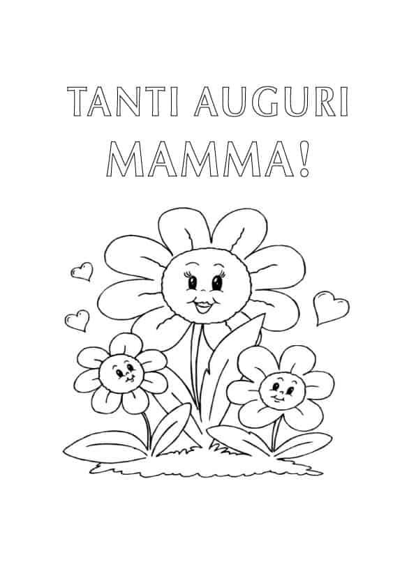 Disegno da colorare per la mamma