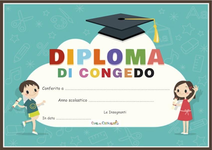 Diploma di fine anno scolastico