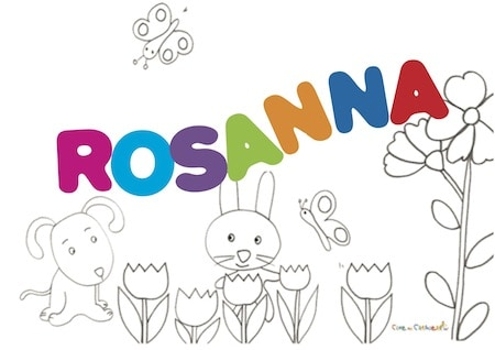 Rosanna: significato e onomastico