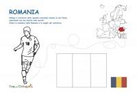 calciatore e bandiera romania