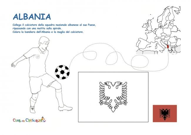Calciatore dell'Albania da colorare