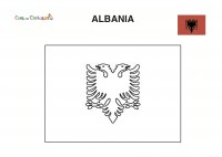 Bandiera Albania da colorare