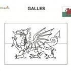Bandiera del Galles da colorare