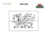 Bandiera Galles da colorare