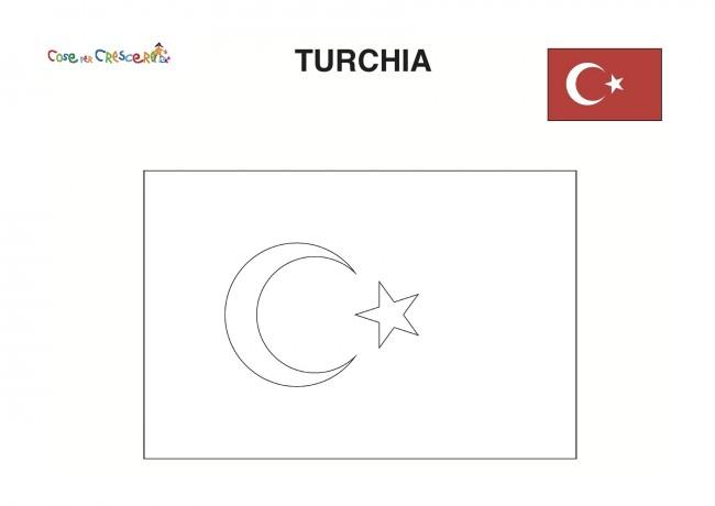 Bandiera Turchia da colorare