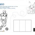 Disegno di un calciatore del Belgio