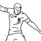Disegno di un calciatore