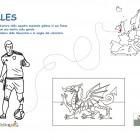 Disegno della maglia del Galles