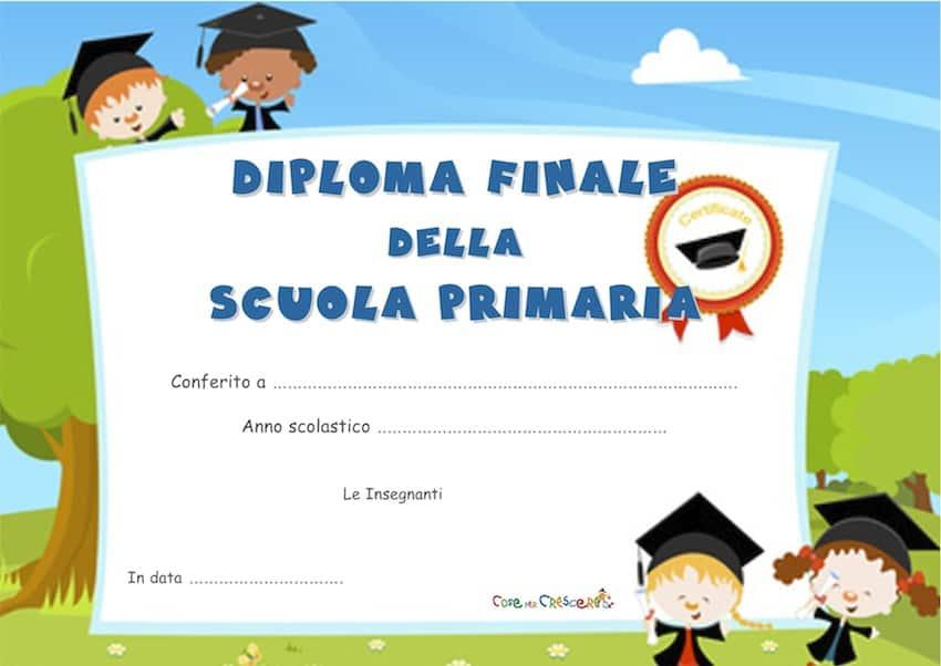 Diploma fine scuola primaria