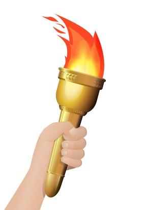 Main avec la torche olympique (dtour)