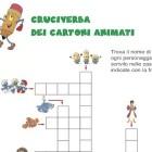 Cruciverba parole crociate e cartoni animati
