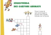 Cruciverba per bambini griglie di cruciverba facili da for Cruciverba facili per bambini piccoli