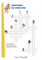Cruciverba per bambini supereroi for Rebus facili da stampare
