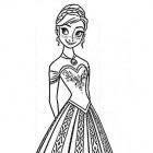 Anna, principessa da colorare