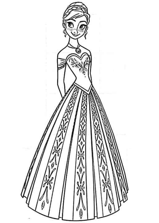 Frozen Anna Da Stampare E Colorare