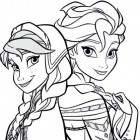 Le principesse di Frozen da colorare
