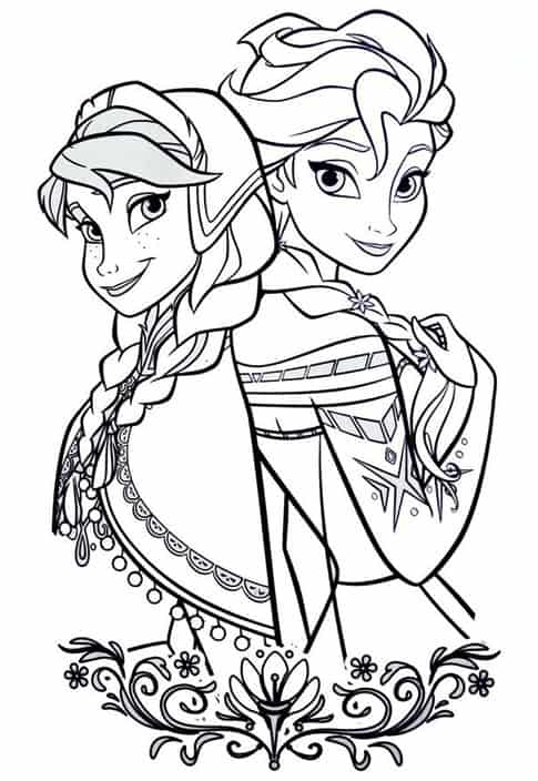 Le principesse di frozen da colorare cose per crescere for Disegni frozen da colorare