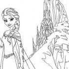 Elsa da colorare