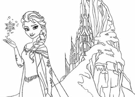 Frozen Disegno Di Elsa Da Stampare E Colorare Gratis
