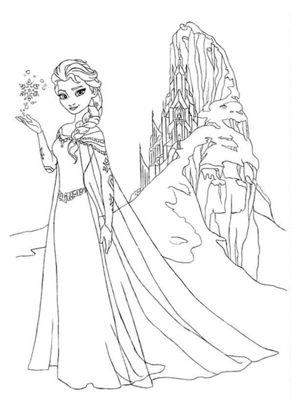 Frozen disegno di elsa da stampare e colorare gratis for Frozen da colorare e stampare
