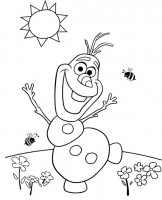 Frozen_ Olaf da colorare