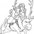 Kristoff e Sven da colorare