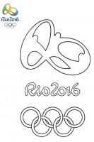 Logo Olimpiadi 2016 da colorare