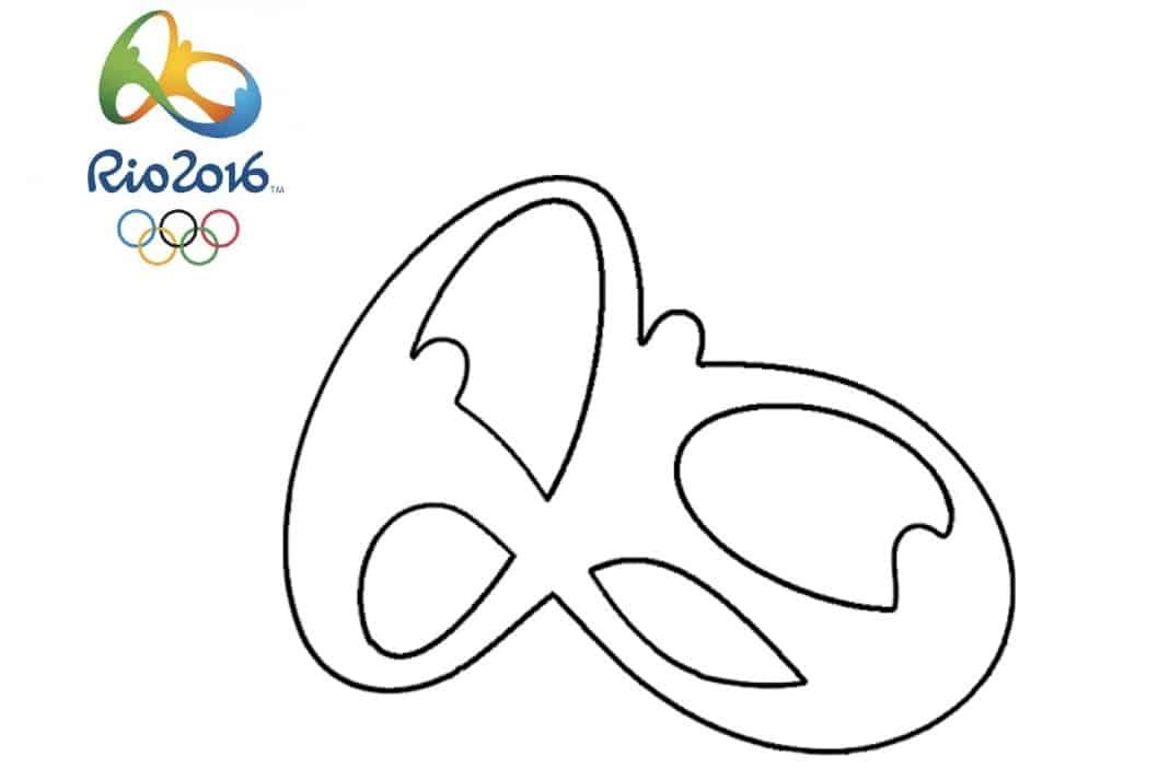 Logo Rio 2016 da colorare