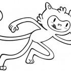 Vinicius, mascotte ufficiale delle Olimpiadi da colorare