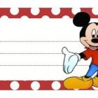 Etichette con personaggi Disney