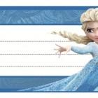 Etichette Frozen da stampare