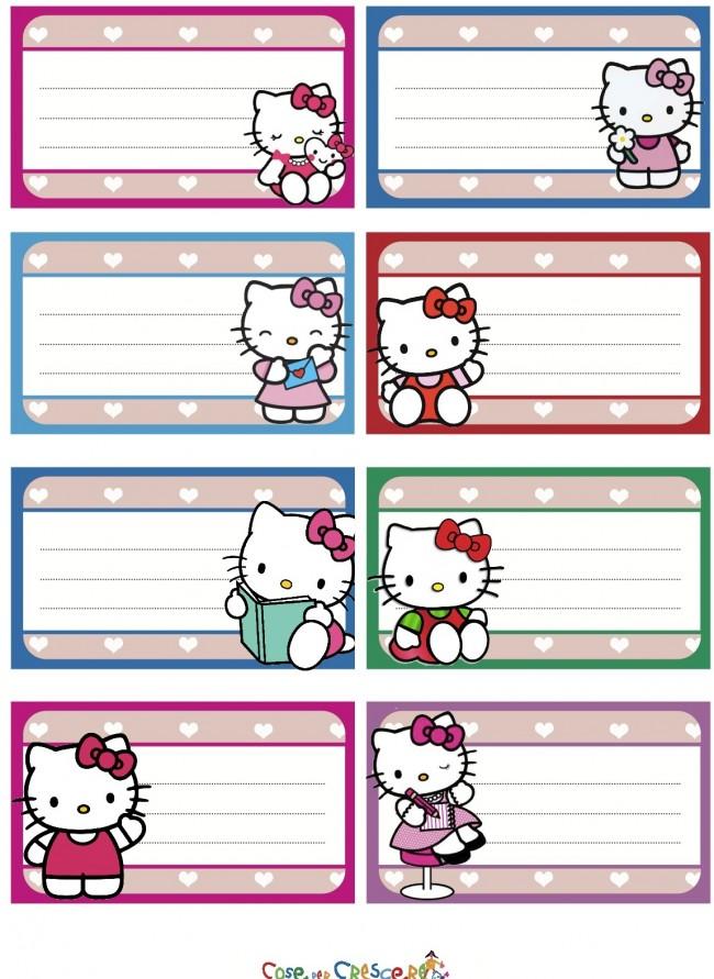 Famoso Etichette Hello Kitty da stampare - Cose Per Crescere GP66