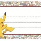 Etichette Pokemon per la scuola