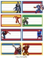 Etichette supereroi da stampare