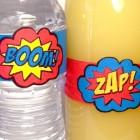 Etichette per una festa di supereroi