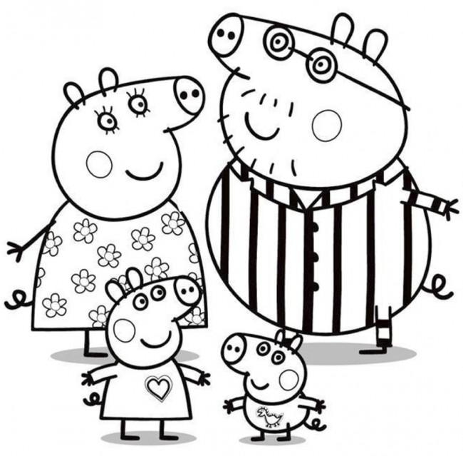 Disegno Della Famiglia Di Peppa Pig