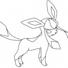 Glaceon da colorare