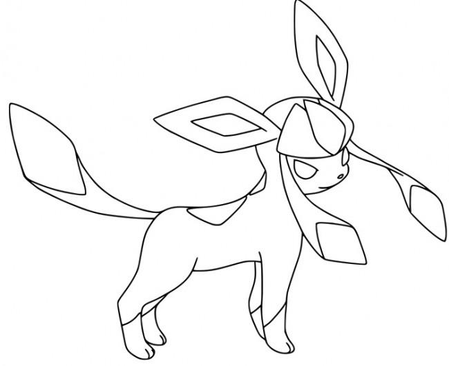 Disegno Di Glaceon Da Colorare Gratis Pokemon