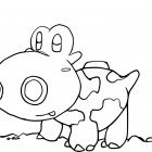 Hippopotas da colorare