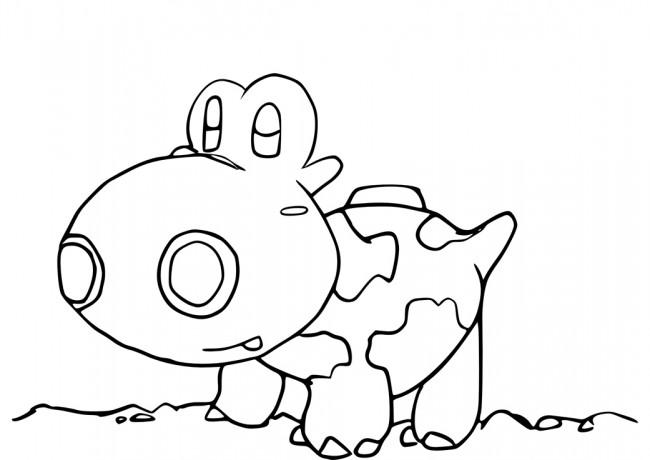 Hippopotas Pokémon da colorare