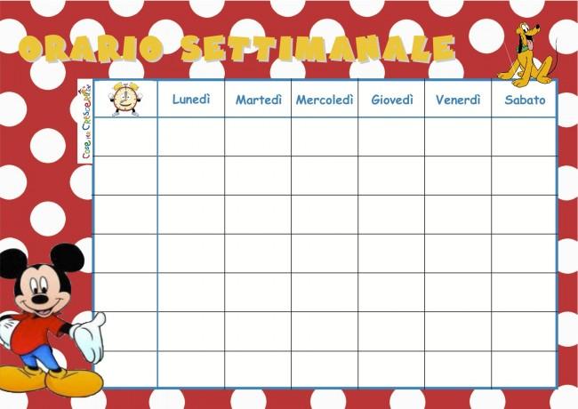 Calendario Dentini.Calendario Settimanale Per La Scuola Cose Per Crescere