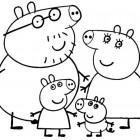 La famiglia di Peppa Pig da colorare