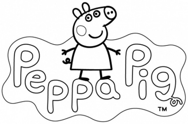 Peppa Pg da colorare