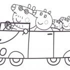 Peppa Pig in macchina da colorare